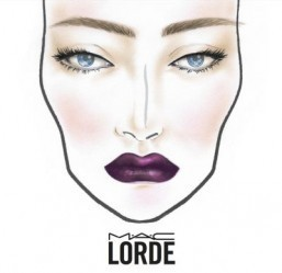 The Lorde face-chart from MAC ©MAC