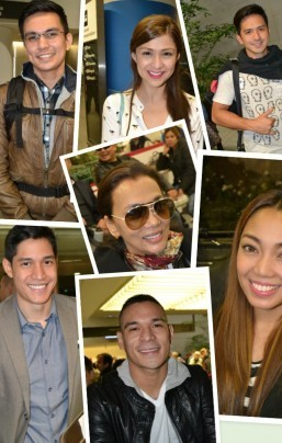 "Tom Rodriguez, Carla Abellana, Dennis Trillo, Victor Basa, Pancho Magno, Jonalyn Viray and MISS Kuh Ledesma of ""My Husband's Lover"" are in the US for their concert tour."