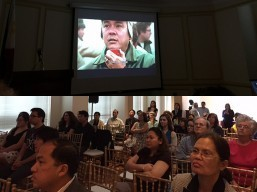 "Community screening of ""The Delano Manongs"" at the Romulo Hall of the Philippine Embassy on 22 April 2016"