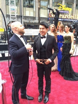 Marlou being interviewed at the Oscars' Red Capet
