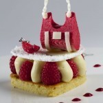 Inès de la Fressange inspires cake at Café de la Paix in Paris