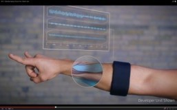 "Screenshot: ""MYO - Wearable Gesture Control from Thalmic Labs"" The armband converts muscle activity into computer and digital device commands. ©2013 YouTube, LLC"