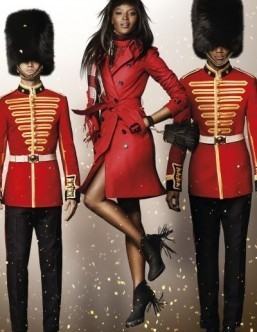 The Burberry Festive Stills shot by Mario Testino ©Burberry