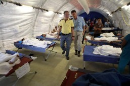 Blow-up hospitals help typhoon effort