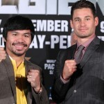 Algieri hits the ground as he prepares to challenge Pacquiao