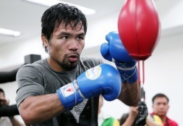 "Manny Pacquiao says he will ""use my left and right (fists)"" when asked how he planned to deal with undefeated American champion Floyd Mayweather who has the height and reach advantage, as well as famed defensive skills. ""If I hurt him I expect him to run. Otherwise he might fight me toe-to-toe,"" says Pacquiao."