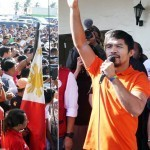 Pacquiao hands money, Bibles to typhoon victims