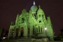 The Sacré-Coeur Basilica in Paris glows green for St. Patrick's Day. ©Tourism Ireland