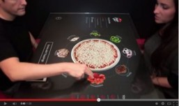Pizza Hut's interactive table ©Pizza Hut/YouTube