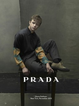 Dane DeHaan shot by Annie Leibovitz for Prada