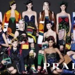 Prada Spring-Summer 2014 campaign highlights colorful mixing