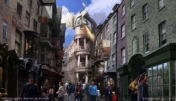 An artist rendering of The Wizarding World of Harry Potter -- Diagon Alley to open at Universal Orlando Resort this summer. ©Universal Orlando Resort