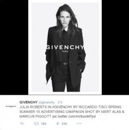 Julia Roberts for Givenchy Spring campaign