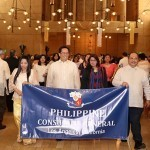 Congen joins Santacruzan at Los Angeles Cathedral