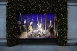 Selfridges' Christmas window for The Ugly Ducklings ©Selfridges/Andrew Meredith