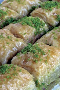 "The Gaziantep baklava, described as a ""pastry made of layers of filo pastry filled with semolina cream and Antep pistachio"", became the first Turkish product to receive EU protected status. ©ihsan Gercelman / shutterstock.com"