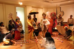 The Migrant Heritage Commission Ensemble performed the Tinikling, a Filipino dance that imitates the movement of the tiklingbirds as they walk between grass stems, run over tree branches, or dodge bamboo traps set by rice farmers.