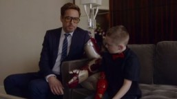Watch Robert Downey Jr. deliver Iron Man bionic arm to boy in viral video