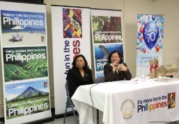 Tourism Director Cuevas and Consul General during Q & A with audience. Right photo shows Tourism Deputy Director Manny Ilagan presenting the basic tour package of the 9th ACGTDT.